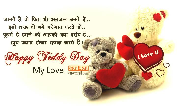 Teddy Bear Status for Whatsapp in Hindi
