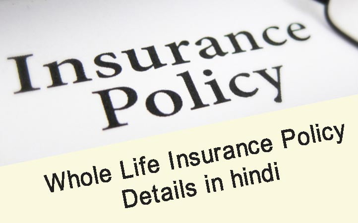 what is whole life insurance and how does it work in Hindi ...