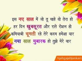 naya saal ki shayari hindi me