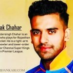 Deepak Chahar Biography in hindi