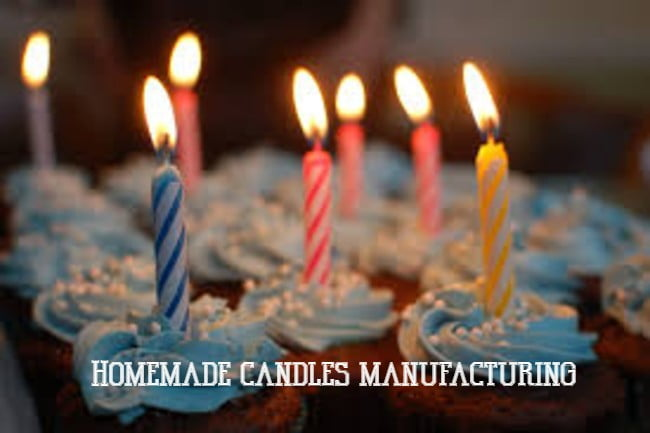 Homemade candles manufacturing