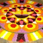 rangoli for diwali with flower