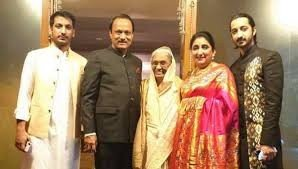 Ajit Pawar with Wife and Children's