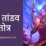 Shiv Tandav Stotram in Hindi