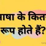 Bhasha Ke Kitne Bhed Hote Hain